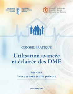 MODULE 6: Services axés sur les patients